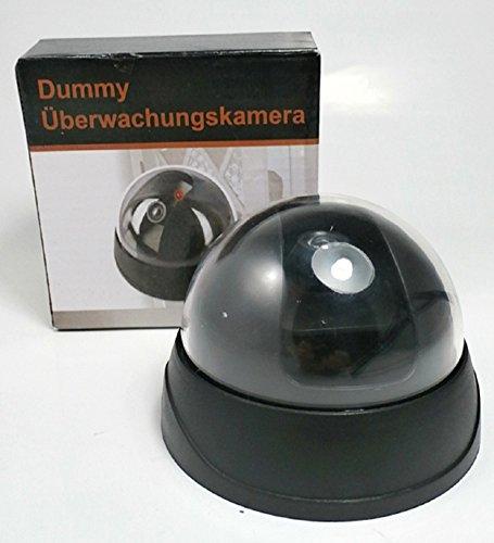 Dome Überwachungskamera Atrappe Dummy Kamera Durchmesser Ø: 9,3cm Höhe: 7,3cm batteriebetrieben