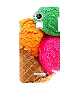 printtech Colored Icecream Cone Back Case Cover for Coolpad Note 3 Lite Dual SIM with dual-SIM card slots