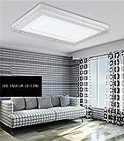 LED rechteckige Wohnzimmer Deckenlampe runden das Schlafzimmer modern Schmiedeeisen ambiente Decke (nicht die Lichtquelle) (Farbe: Einfarbig Weiß)