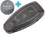 MOLMY Clé pour Clé à Distance pour pourd s-Max Fiesta Galaxy Grand C-Max S + Batterie cr2032