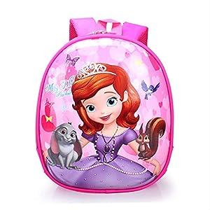 ASYPJP Mochila Escolar Kindergarten Eggshell Bag Cartoon Cute Kids Mochila Infantil BolsaPrincesa Sofía 14 Pulgadas