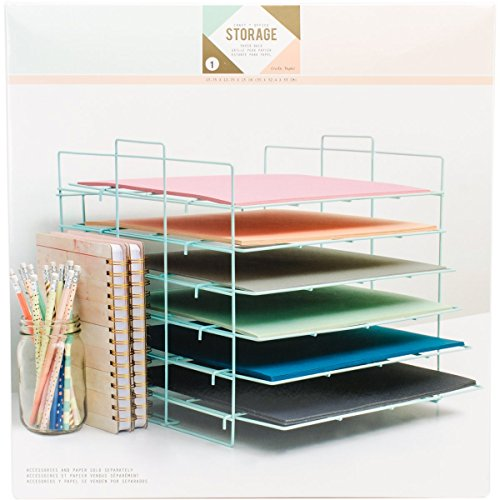 We R Memory Keepers Desktop Aufbewahrung Papier Rack, blau - Rack Wire Frame
