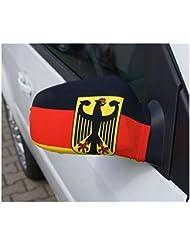 WM 2014 Deutschland Aussenspiegel-Überzug 2er Set Autospiegelfahne Spiegelfahne mit Flagge