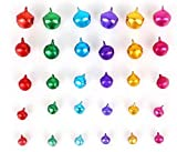 Liroyal Metal Jingle Bells for Christmas Decoration Jewellery Making Craft 6mm-14mm (Colorful)