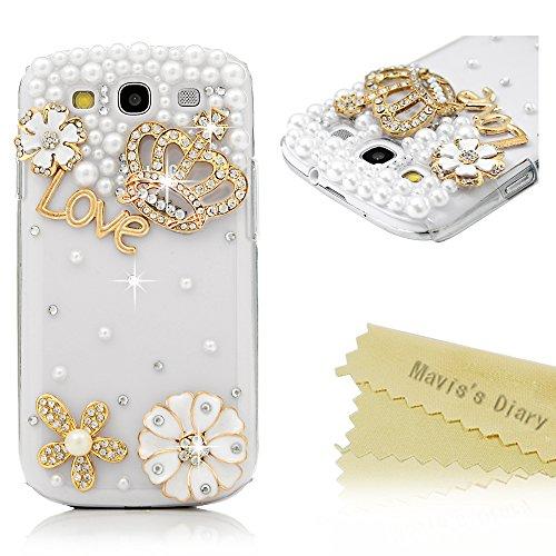 Samsung Galaxy S3 i9300 Cover Custodia Cristallo strass - Mavis's Diary Custodia duro del PC di plastica trasparente estremamente sottile - Progettazione corona imperiale
