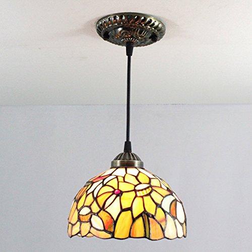 MEHE HOME--8-Zoll-Tiffany Pastoral Lotus kreative Hand Seerosen Kronleuchter (Tiffany Seerose)