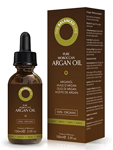 Reines Arganöl für Haar, Gesicht und Haut 100% rein, 1.Klasse, USDA Zertifiziert Biologisch, Ungeröstet, Kaltgepresst und Extra Natives Arganöl – Feuchtigkeitsspendend und Reich an Antioxidantien