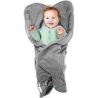Wallaboo Fleur - Manta para bebé, muy práctica y ultra suave, 85 x 85 cm, 100% algodón, bebé recién nacido hasta 12 meses, preciosa forma de flor