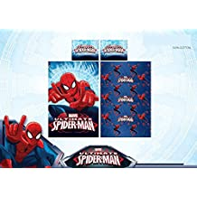 Completo Cama Sábanas individual Spiderman Hombre Araña Encimera menos y funda de almohada 100% algodón