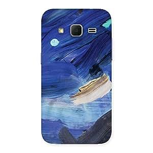 Premium Blue Paint Work Print Back Case Cover for Galaxy Core Prime