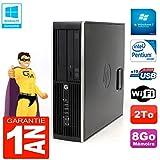 HP PC Compaq Pro 6200 SFF Intel G840 RAM 8gb 2To DVD-Brenner WiFi W7