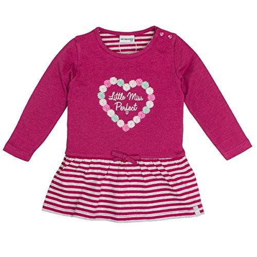 SALT AND PEPPER Baby-Mädchen Kleid B Dress Princess Stripe, Pink (Berry Melange 877), 74