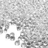 Cdet 1000X Piedras de decoración de diamante acrílico transparente tipo dorso plano pedrería acrílico cristal gemas pedrería,Transparente
