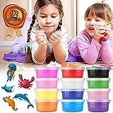 HWeggo Springknete Hüpfknete Kinderknete knete für Kinder DIY Handgemachtes Lernen 12 Farben