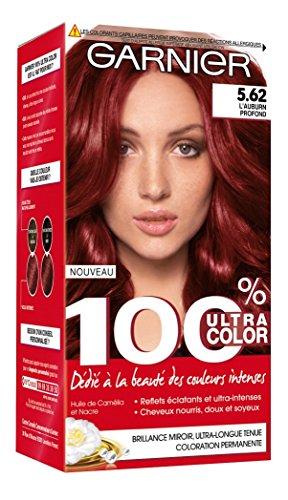 Garnier - 100% Ultra Color - Coloration permanente Rouge - 5.62 L'Aubrun Profond