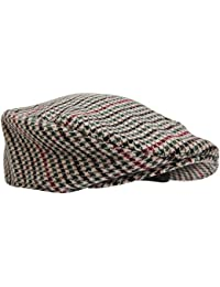 Mens Tweed Wool Blend Flat Cap
