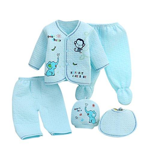 r Baumwolle Kleidung Set Essentials Bundle Caring Geschenk (Hut + Bib + Pyjamas Anzug + Hosen) 0-3 Monate (Ding 1 Und Ding 2 Kostüme Mädchen)