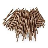 WINOMO 100pcs Bois bûches Bâtons pour DIY loisirs créatifs 10cm de long 0,3–0.5cm de diamètre (Bois Couleur)