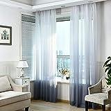 1 Pcs Finestra garza finestra schermi, tende, tende trasparenti, camera da letto, soggiorno, gradiente Slope tende, decorazione per finestra, grigio