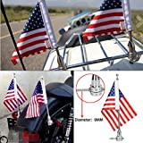 Motorrad Flagge Pole Mount und 6x 9Flagge USA American für Honda Goldwing CB VTX CBR Yamaha Harley Davidson