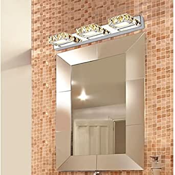 Kingso modernes trois chefs 9w led crystal miroir fa ade for Miroir trois faces salle de bain