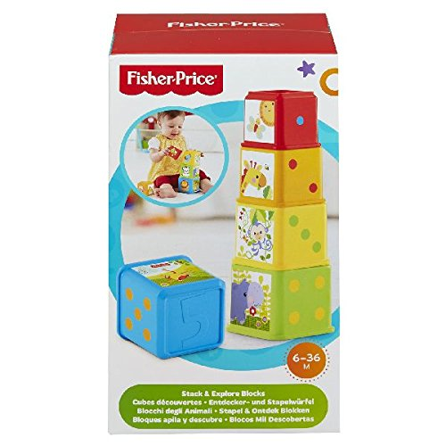 Fisher-Price - Bloques apila y descubre (Mattel CDC52)