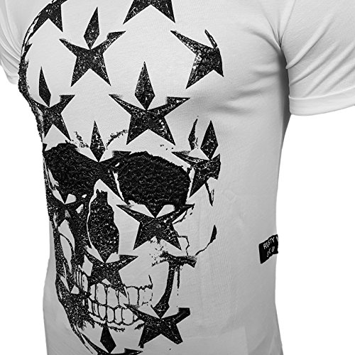 HERREN T-Shirts TShirt NEU Größe S M L M XL XXL RUNDHALS KURZARM Regular RN15121 Weiß