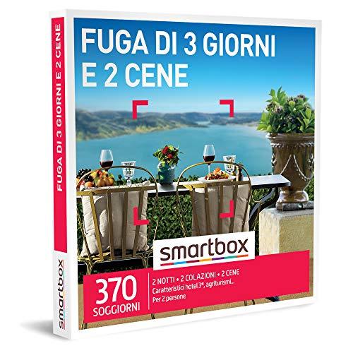 Smartbox - fuga di 3 giorni e 2 cene cofanetto regalo soggiorni gastronomici 2 notti con colazione e 2 cene per 2 persone