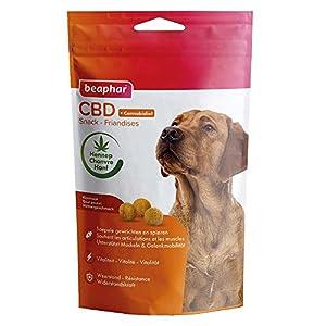 Beaphar - Friandises au CBD (Cannabidiol), complément alimentaire bien-être - Chien - 150 g