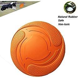 Frisbee perro, discos voladores duraderas para la diversión interactiva al aire libre con su cachorro, super ligero y flotante