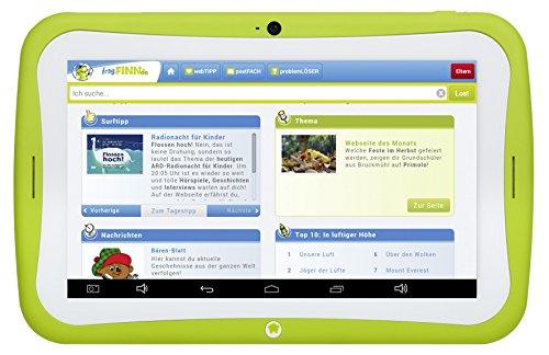 Preisvergleich Produktbild Blaupunkt Tablet PC 4Kids / Tablet PC für Kinder, ca. 17,8 cm (7 Zoll), Android 5.1, 8 GB, Eltern-Sicherheit-Funktion, fragFINN.de sichere Kindersuchmaschine vorinstalliert, grün (Kindgerechte Schutzhülle blau/pink)