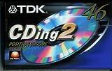 Audiocassette TDK CDing 2 Position Chrome 46 Minuti (2 Pezzi)
