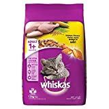 Whiskas Adult (+1 Year) Dry Cat Food Food, Chicken Flavour, 1.2kg Pack