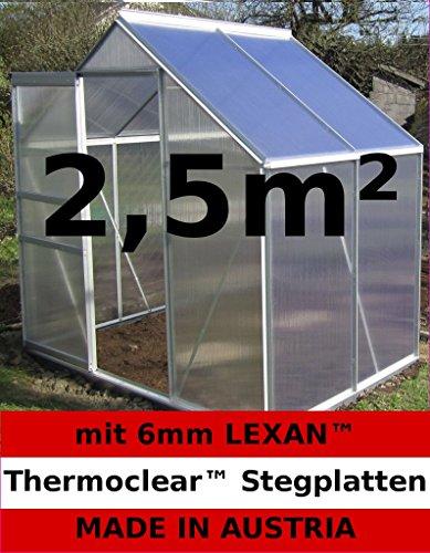 2,5m² ALU Aluminium Gewächshaus