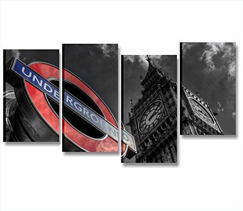 londres-cadre-chassis-moderne-152-x-78-cm-impression-sur-toile-ville-skyline-paysages-metro-london-u