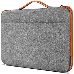 Inateck Sleeve Protettiva per laptop 14-14,1 pollici per notebook e ultrabook .Compatibile con 15'' MacBook Pro 2018/2017/2016. Borsa per Laptop imbottita idrorepellente con Manici e cerniera