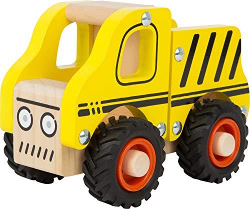 small foot 11096 Einsatzfahrzeug Baufahrzeug aus Holz, mit Ladefläche und gummierten Rädern, ab 18 Monaten - 2