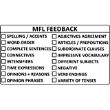 MFL / Languages Feedback KS3/4 Teacher Self-inking Stamp - Large Format 6x11cm. Choice of Ink Colour