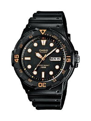 CASIO Collection Men MRW-200H-1EVEF - Reloj analógico de cuarzo con correa de resina para hombre, color negro