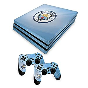 Official Manchester City FC PS4 Pro Console Skin and 2x Controller Skin Combo Pack by Manchester City