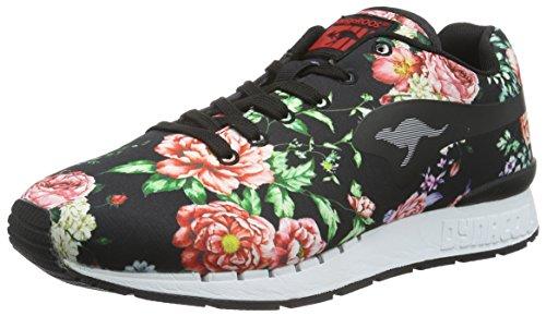 KangaROOS Coil-R Flower, Baskets Basses Femme Multicolore - Mehrfarbig (Rose/Black 655)