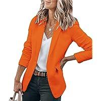 Tomwell Donna Blazer Maniche Lunghe Aperto Davanti Colletto Cappotto Elegante Ufficio Business Blazer Party Top con 1…