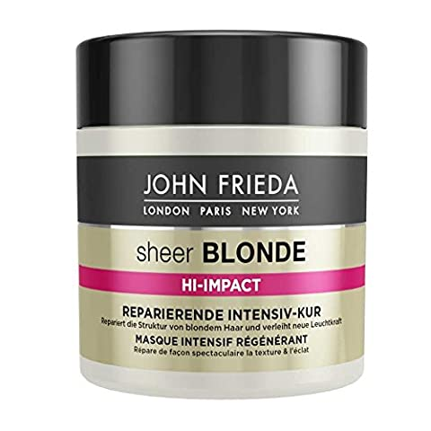 John Frieda Sheer Blonde Hi-Impact Reparierende Intensiv-Kur, 4er Pack (4 x 150 ml)