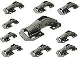 10 x Aufschraubscharnier Aufschraubscharniere Scharnier mit Feder Easy On 103mm