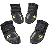 Magic Zone 4pcs wasserdicht Hund Schuhe Non-Slip