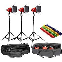 HWAMART ™ dimmer incorporado en pro estudio fotográfico de vídeo continuo cabeza roja luz 800w 5mcord