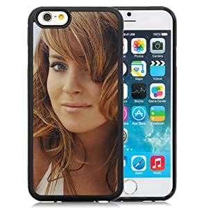 6 case,Unique Design Lindsay Lohan Girl Haircut Eyes Lips iPhone 6 4.7 inch TPU case cover