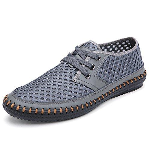 Herren Casual Shoes Sommerschuhe Mode Atmungsaktive Mesh 38-48 Schuhe Low Heel Slip