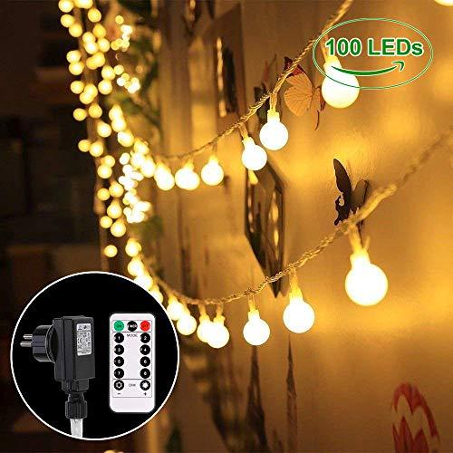 Ersatzbirnen Für Weihnachtsbeleuchtung.B Right 100 Leds Globe Lichterkette Glühbirne Led Lichterkette Warmweiß Lichterkette Mit Fernbedienung Innen Und Außen Lichterkette