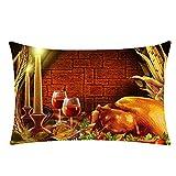 Kangrunmy housse de coussin Rectangulaire 30X50Cm Thanksgiving DéCorative Home Decor Pillowcase Maison Ameublement DéCoration Chambre Voiture Café ÉTudiants Dortoir Sofa Lit Cadeau